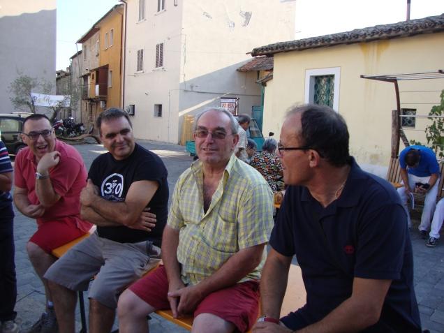 Altro gruppo storico: Massimo Persieri, Michelino Del Corso, Marco Gorini, Patrizio Marchignani .